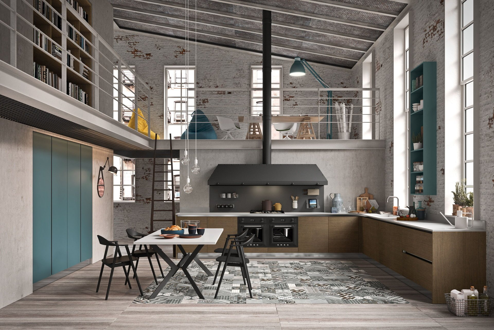 Cucine industrial arredamenti riuniti for Arredamenti riuniti calcinate opinioni