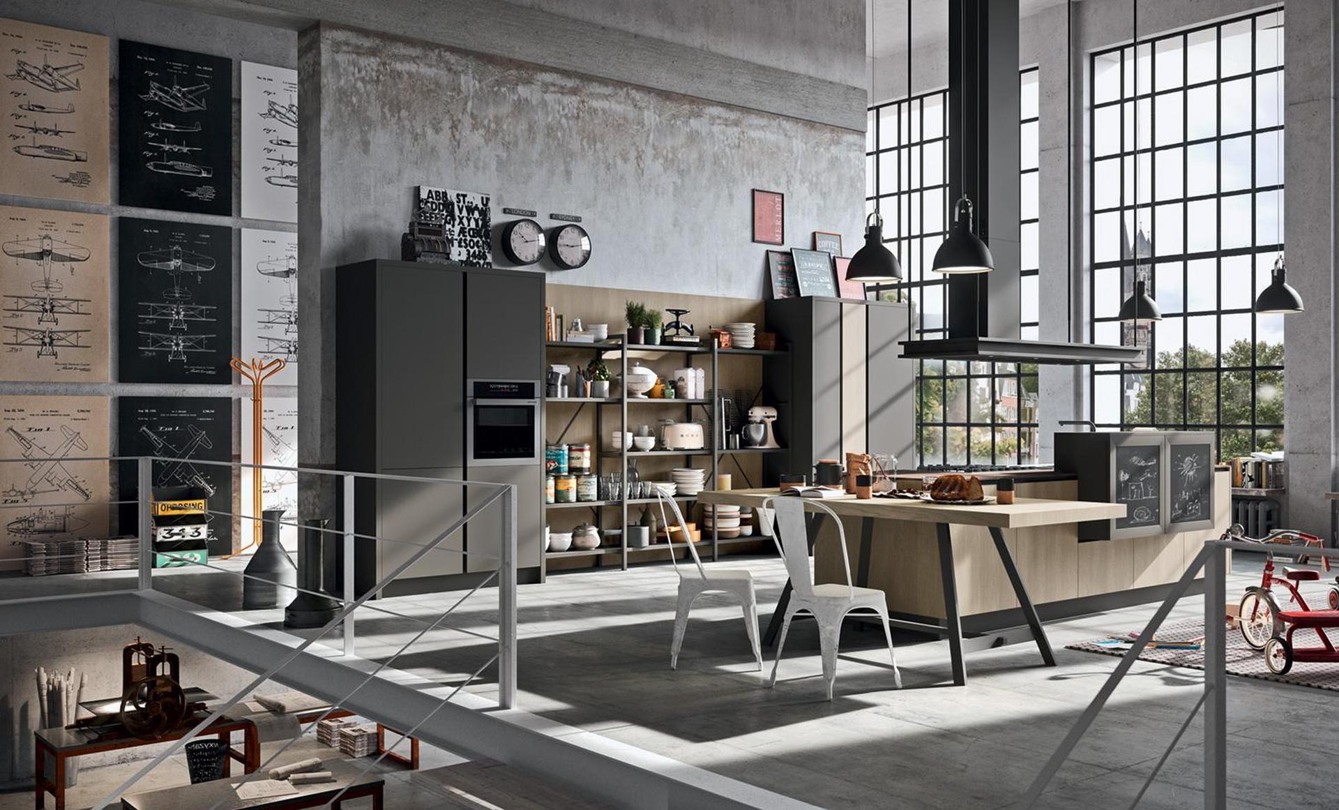 Cucine industrial arredamenti riuniti for Interior design cucine